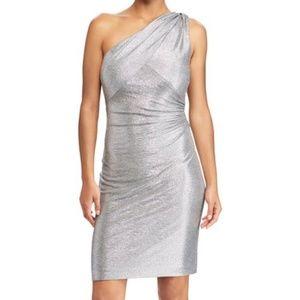Ralph Lauren metallic one shoulder dress